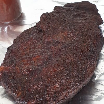 Brisket Bark nicely set and ready to wrap through the stall...